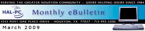 HAL-PC Monthly eBulletin - November 2008