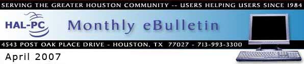 HAL-PC Monthly eBulletin - April 2007