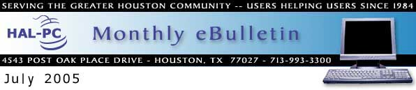 HAL-PC Monthly eBulletin - July 2005