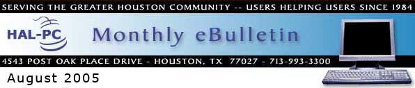HAL-PC Monthly eBulletin - August 2005
