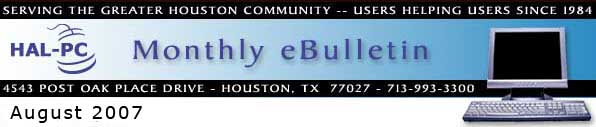 HAL-PC Monthly eBulletin - August 2007