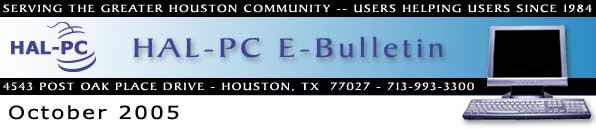 HAL-PC Monthly eBulletin - October 2005