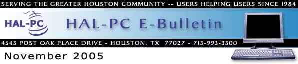 HAL-PC Monthly eBulletin - November 2005