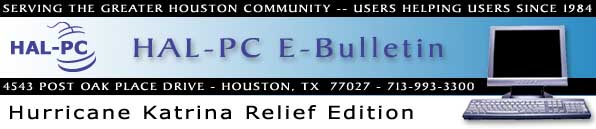 HAL-PC eBulletin - Hurricane Katrina Relief Edition